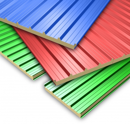 Three color Roof Panels
