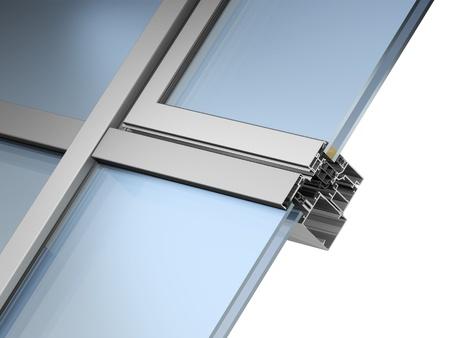 glazing: facade glazing system Stock Photo