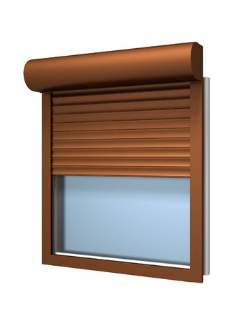 Window with roller shutter Stock Photo - 17766189
