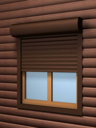 Window with roller shutter photo