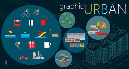 Urban graphic set