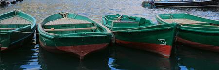 木製のボートを閉じる 写真素材