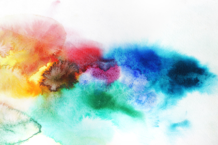 Watercolor splashes background Stock Photo