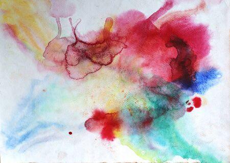 水彩画背景を飛散します。