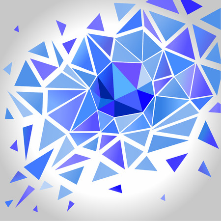 Abstract Crystal Polygon Background.  Vector