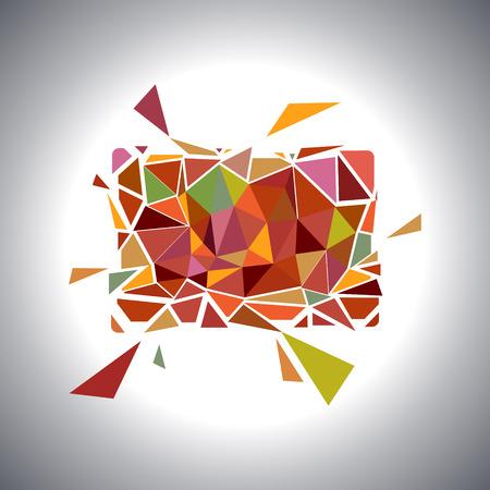 多角形の幾何学的なカード。 ベクトル