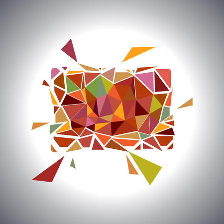 Polygonal Geometric Card.  Vector