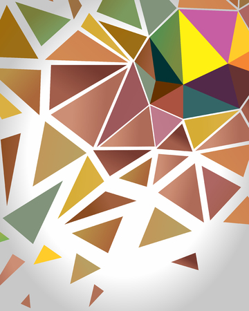 snippet: Abstract Crystal Polygon Background.  Vector