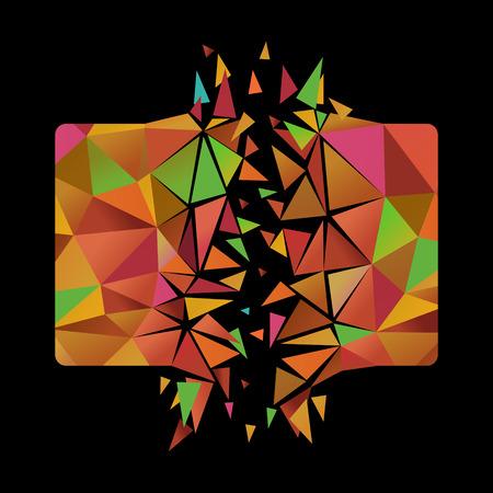 爆発の多角形カード  イラスト・ベクター素材