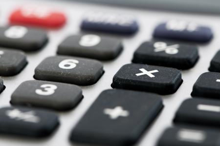 multiplicar: Detalle de una calculadora para multiplicar clave