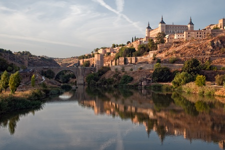 Panoramic view of the city of Toledo in Spain Stock Photo