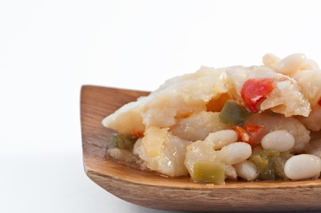 homemaker: Spain traditional dish of cod with beans