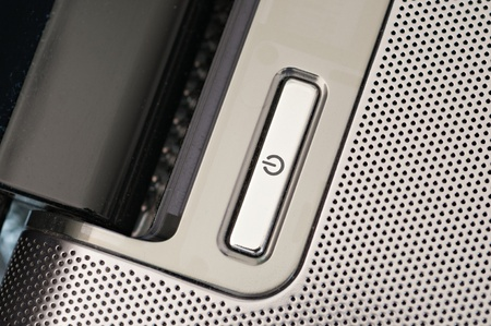 power button: Power button on a laptop