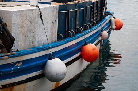 trawler net: Detail of a fishing boat