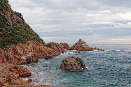 Detail of the Costa Brava in Spain Stock Photo - 16060562