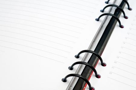 Detail of an open agenda photo