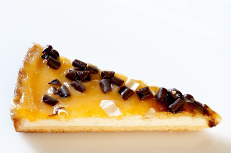 Top view of a cheesecake photo