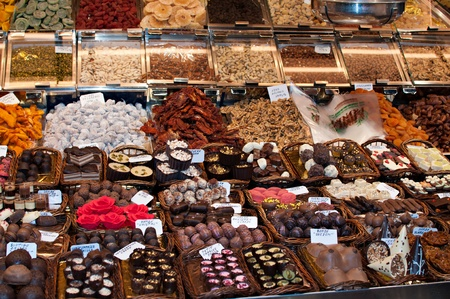 candy store: Store specializing in the sale of chocolate