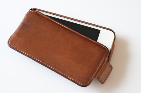 detail leather case for phone