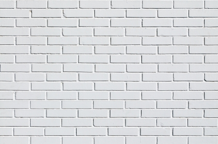 blanche: Detail of a white brick wall Stock Photo