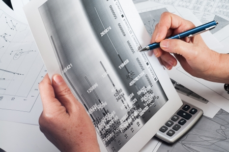 Simulation study of financial opportunities Stock Photo - 18700478