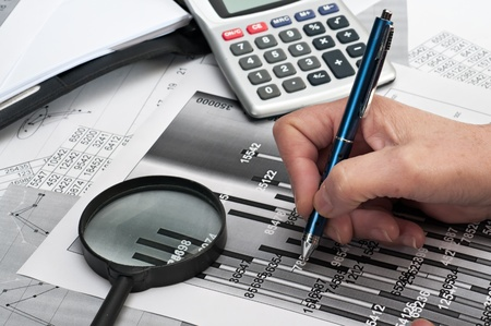Simulation study of financial opportunities  Stock Photo