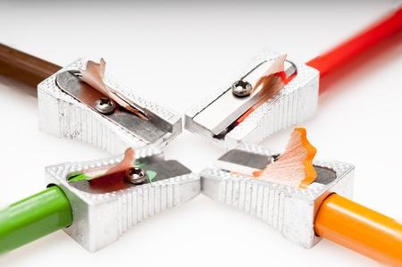 sacapuntas: Detalle de un afilador de afeitar Foto de archivo