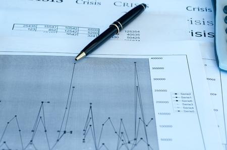Financial graphs and charts analysis  photo