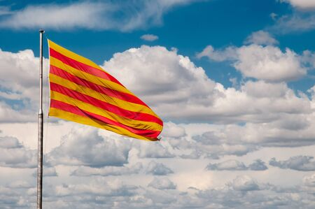 catalonian: Catalonian flag in the wind