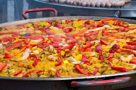 marisco: Spanish Paella typical in traditional festival
