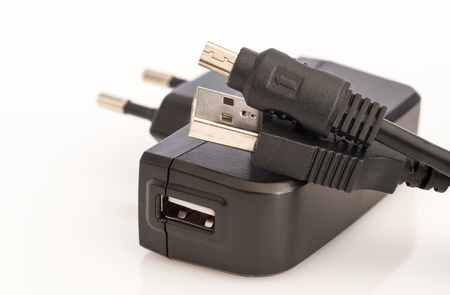 Detail of a phone charger photo