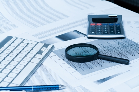Numerical and graphical data simulating a financial study  photo