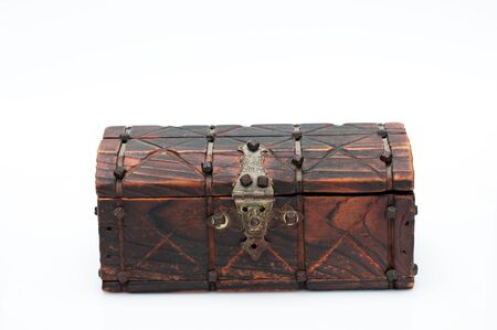 Small and old wooden chest photo
