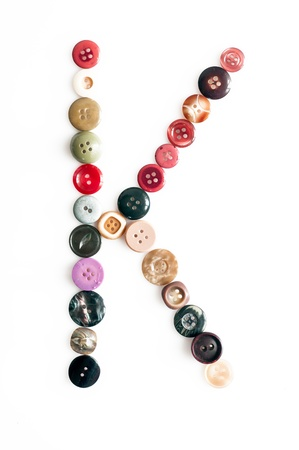 serie: Serie of letters of the alphabet formed by buttons