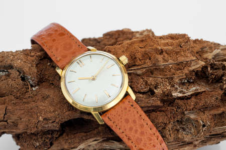 Old wrist watch Hand-wound photo