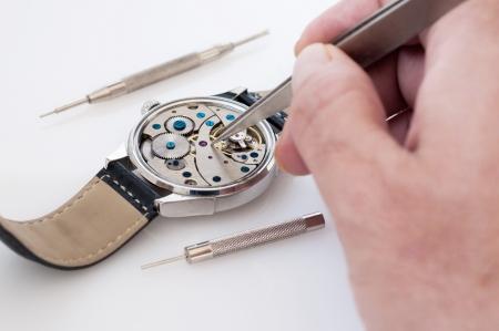 Special tools for repair of clocks Stock Photo