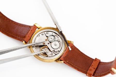 Special tools for repair of clocks Stock Photo - 19714203