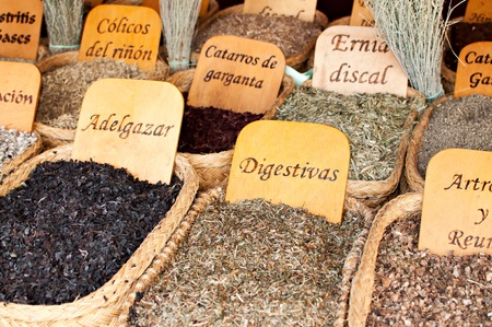 Herbs medicinal in a traditional market Stock Photo - 19714392
