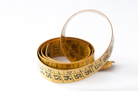 Tape measure used by a dressmaker Stock Photo