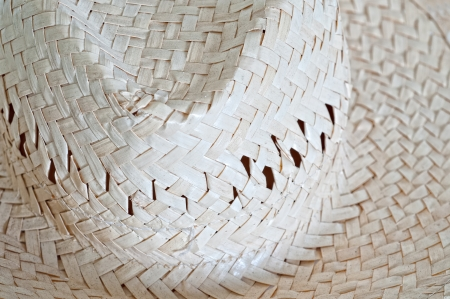 Ancient straw hat used in the field photo