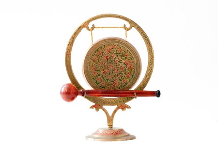 exotic gleam: Old craft manufacture golden gong