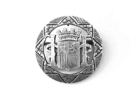 Brooch made from an old silver coin photo