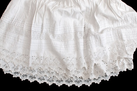 petticoat: old petticoat hand embroidered cotton