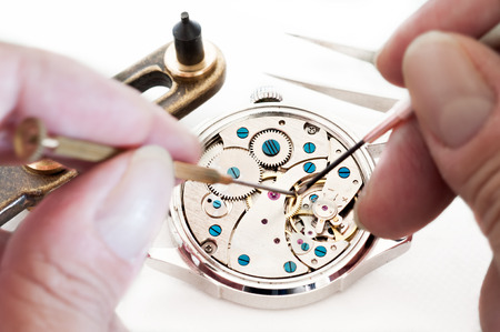 Special tools for repair of clocks  Stock Photo