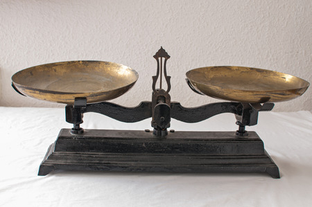 Detail of an old weigh scales