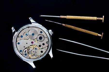 Special tools for repair of clocks Stock Photo - 22881384