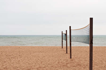 Beach with nets to play Volleyball photo