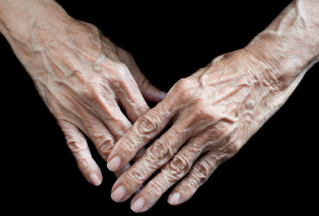Detail of the hands of an elderly person photo
