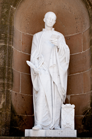 Marble statues in the monastery of Montserrat photo
