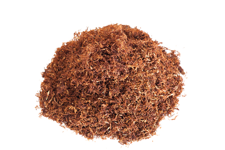 tabaco: Detalle de una pila de tabaco tuber�a Foto de archivo